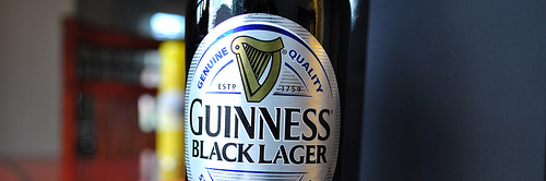 image of Guinness Black Lager courtesy of our Flickr page