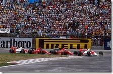 Senna precede Mansell, Berger e Prost al gran premio del Messico 1989