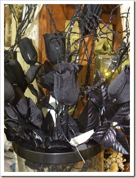 morticia's black roses
