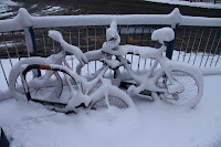 Won't be biking in to work today