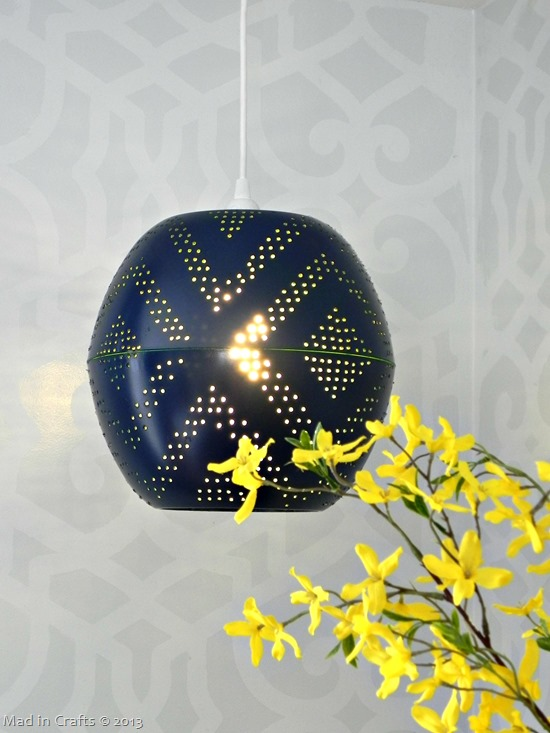 West elm inspired perforated globe pendant lamp mad in crafts lamp1 aloadofball Gallery