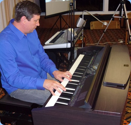 Vladimir Shilov played a great variety of music from Russian love songs to blues with some latin interludes using the basic rhythm machine for effect. Vladimir was very complimentary about the sound and expressiveness of the Club's Clavinova CVP-509.