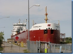 8442 Thorold -  Welland Canals Parkway - Thunder Bay lake freighter leaving Lock 6
