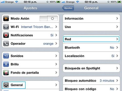 Ajustes de datos móviles 1