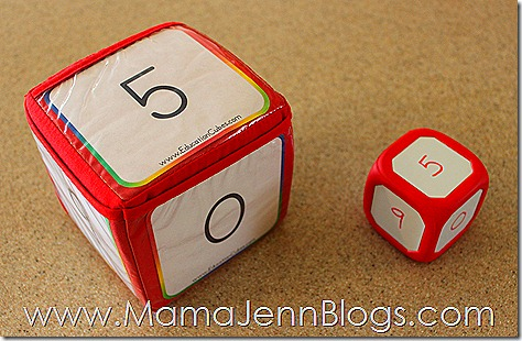 Education Cube vs. Write-On Wipe-Off Dice