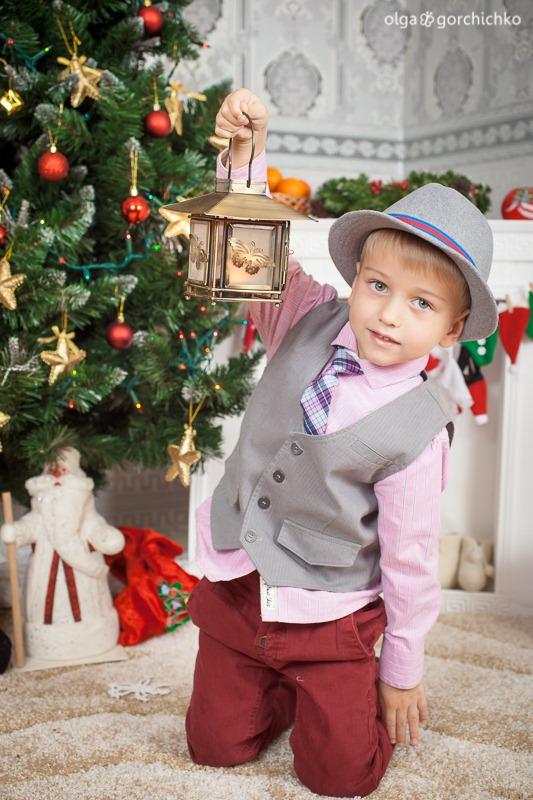 Детский новогодний фотопроект Рождественские мечты. 6. Федя и Варя-8449