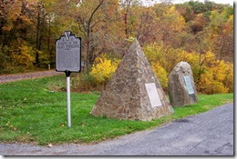 Marker D-10 and two other related monuments