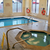 Hotel pool.