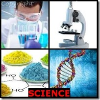 SCIENCE- 4 Pics 1 Word Answers 3 Letters