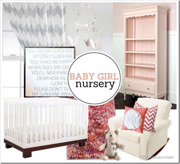 PBJstories Girl Nursery Mood Board