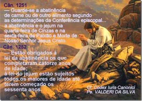 Jesus Cristo - penitencia e jejum