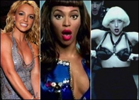 Britney Spears, Beyonce and Lady Gaga