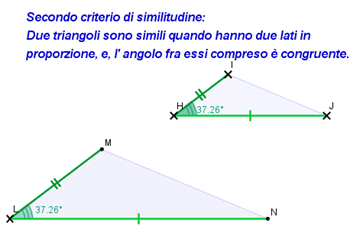 2° criterio similitudine triangoli