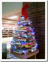 Library Book Holiday Tree
