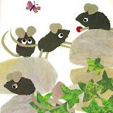 tenía su hogar una parlanchina familia de ratones de campo.