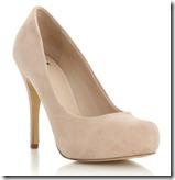 J by Jasper Conran beige suede court shoe