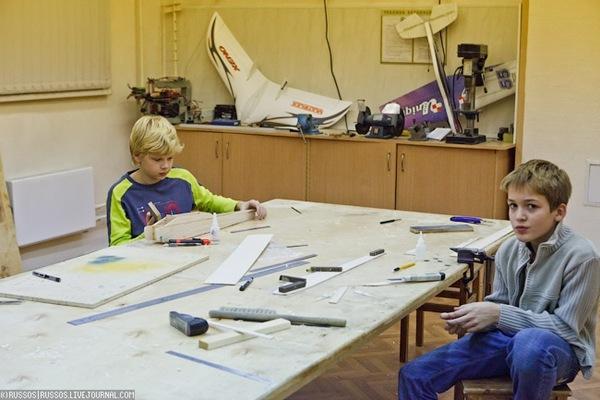 Ecole de modélisme en Russie