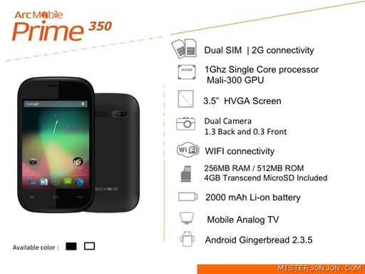 Arc Mobile Prime 350 Philippines