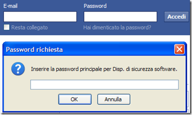 Firefox Password richiesta login sito internet