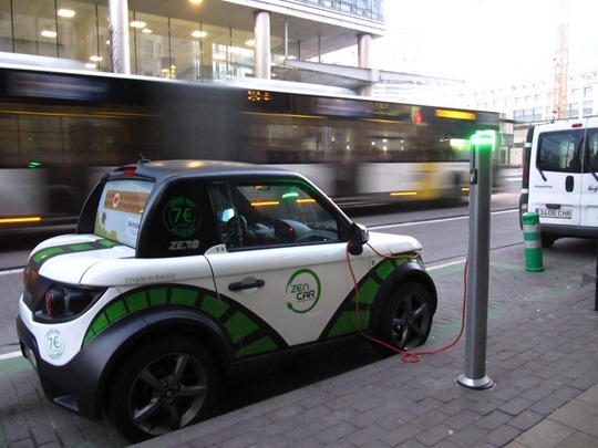 Electric Car in Brussels, Belgium