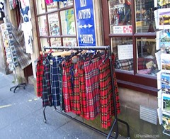 Kilts along the Royal Mile