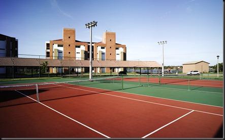 Foto das quadras de tênis _