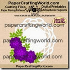 doily and rose card set-ppr-cf-200
