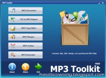 MP3 toolkit screenshot
