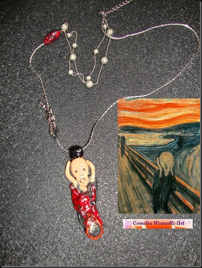 Edvard Munch - The Scream Inspired Necklace