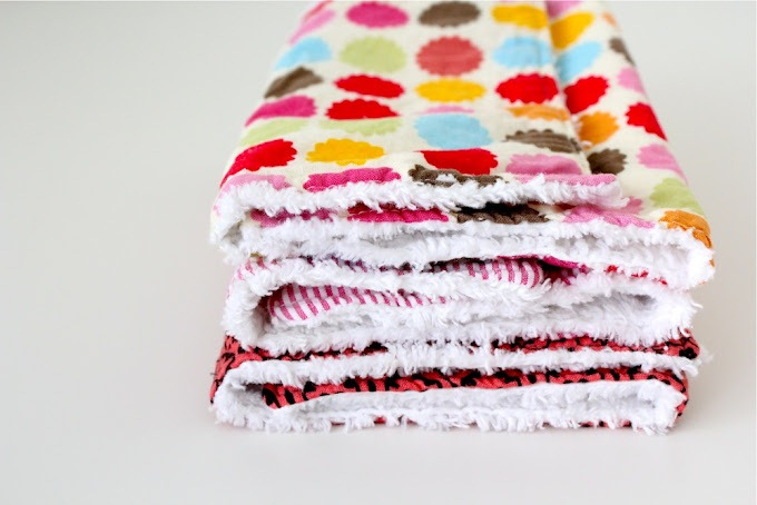 diy burp cloths by Made