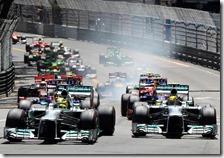 La partenza del gran premio di Monaco 2013
