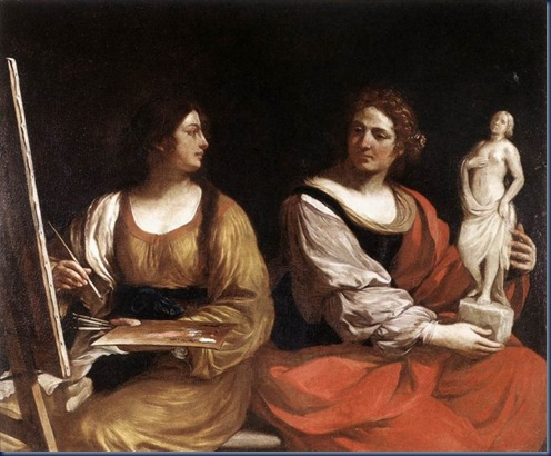 Alegoria de la pintura y la escultura 1637