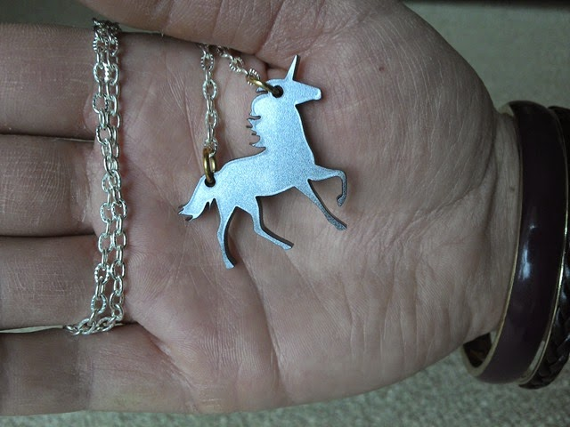 Iced Rainbow jewellery unicorn necklace