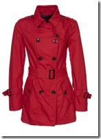 Benetton Red Trench Coat
