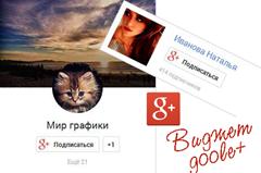 виджет гугл +