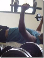 RAWR! man lifting weights - photo from sxc.hu