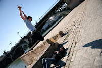 Gerrod jumping Ben