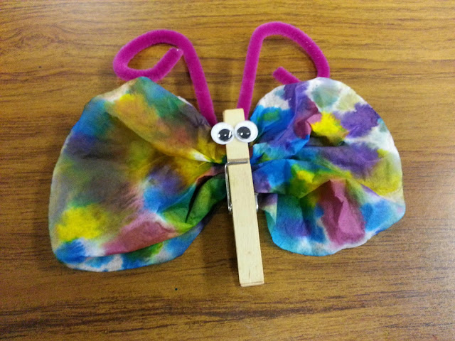 Misadventures Of A YA Librarian Coffee Filter Butterfly Craft