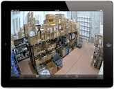 Viewtron video surveillance iPad app viewing of an  HD-BX7-28 HD-SDI Box-style CCTV camera with a 2.8-12mm varifocal lens.
