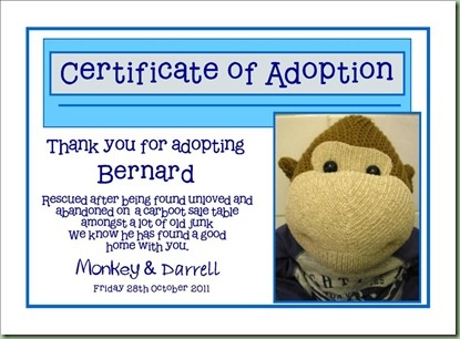 adoption cert bernard