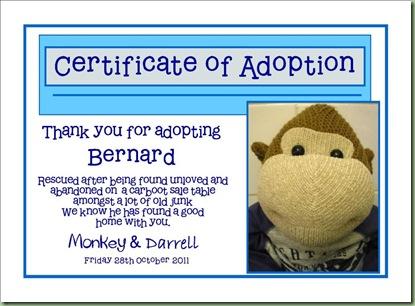 adoption cert bernard