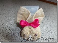Kanin lavet af vaskeklud
