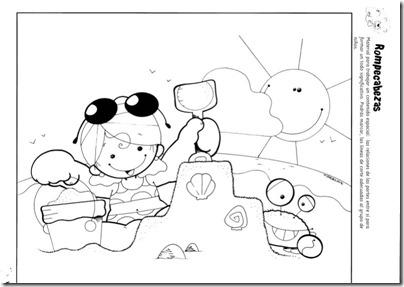 Colorear dibujos vacaciones y fin de curso | Busco Imágenes