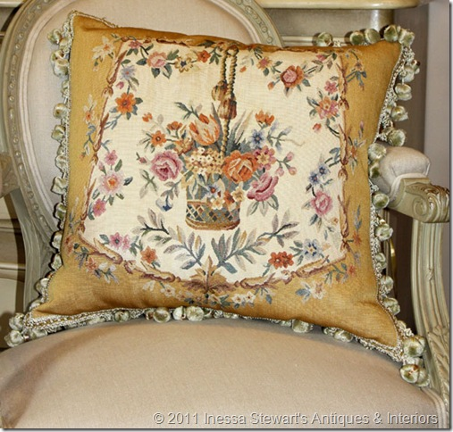 Reproduction Aubusson Pillow