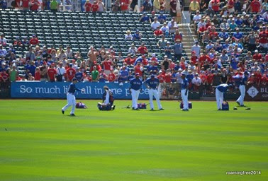 Rangers warming up