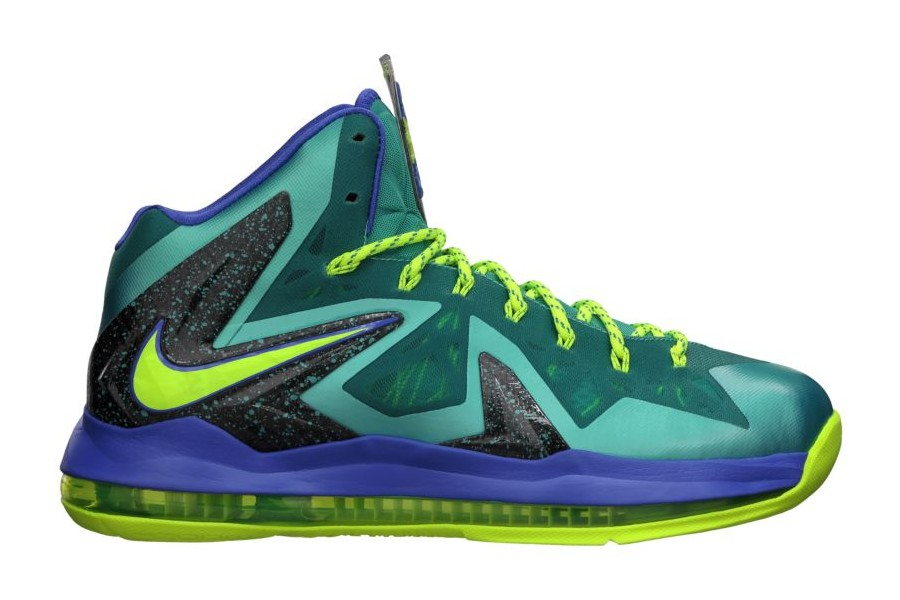Nike lebron 10 lava Shoes green