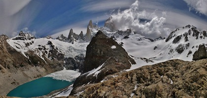 Fitz Roy and Laguna Sucia panorama.