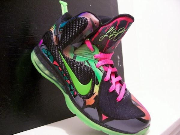 Nike LeBron 9 8220Alley Art8221 Custom by Peculiar Kinetics