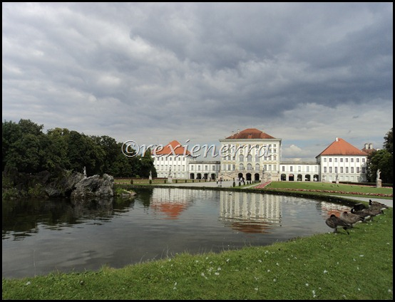 nymphenburg castle-behindview