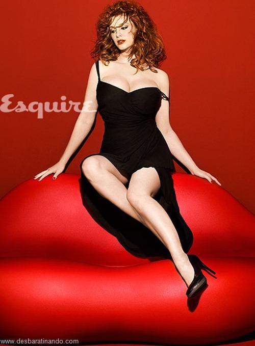 Christina Hendricks linda sensual sexy sedutora decote peito desbaratinando (11)